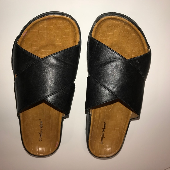 176bef411 Comfortview Shoes - Black Size 10 Comfortview Women s slide on sandals